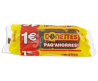 Donettes Mini rosquillas bañadas de chocolate 5 unidades de 95 gramos