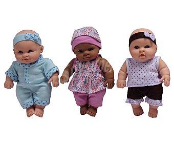 Rik&Rok Auchan Mini-Bebes Gorditos con diferentes Trajecitos 1 Unidad