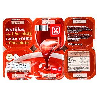 DIA Natillas chocolate Pack 6 unidades 125 g