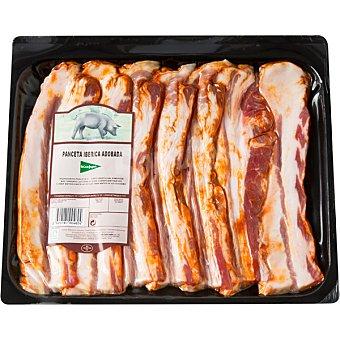 El Corte Inglés Panceta adobada de cerdo ibérico en lonchas peso aproximado Bandeja 600 g
