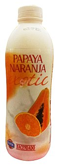 Hacendado Yogur liquido naranja papaya Botella 1 kg