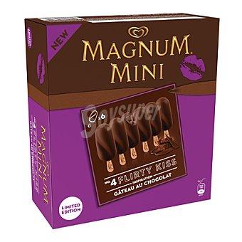 Magnum Helado pastel de chocolate Mini Kiss 6 ud