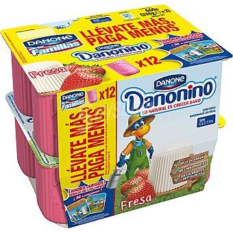 Danonino Danone P.suisse fresas danone Pack 12 X55 GR