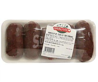 Grau Morcilla negra de cebolla con piñones vila 450 gramos aproximados