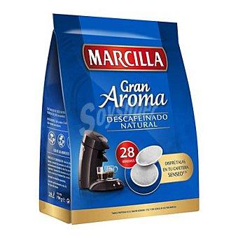 Marcilla Café descafeinado natural en cápsulas 28 ud