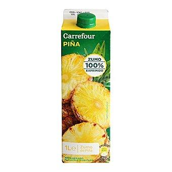 Carrefour Zumo natural de piña Brik de 1 l