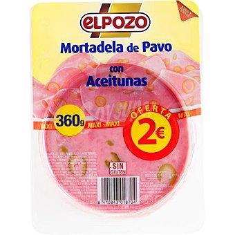 ELPOZO Mortadela de pavo con aceitunas en lonchas  envase 360 g