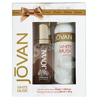 Jovan Lote mujer white musk eau toilette 50 ml + desodorante spray 150 ml 1 lote