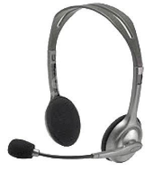 Logitech Auriculares + microfono H110 Unidad