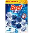 desinfectante poder activo Blue Activ colgador  envase 2 unidades Bref WC
