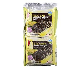 Auchan Tortitas de maíz con chocolate 100 gramos