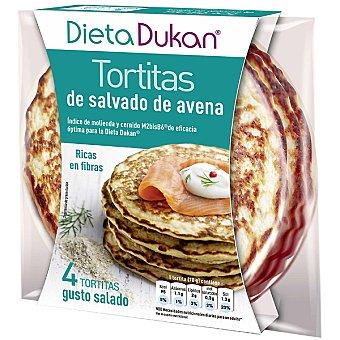 Dieta Dunkan Tortitas de salvado de avena ricas en fibra sabor salado Envase 280 g