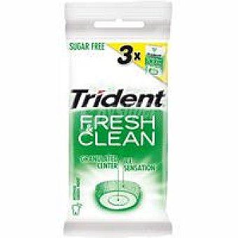 TRIDENT Fresh&Clean Chicle de hierbabuena Paquete 3 unid