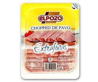 ElPozo Chopped de pavo en lonchas extrafinas 130 gramos