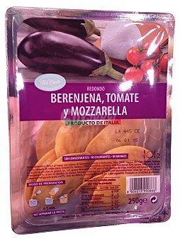 BERTAGNI PASTA FRESCA REDONDO CON BERENJENA, TOMATE Y MOZZARELLA TARRINA 250 g
