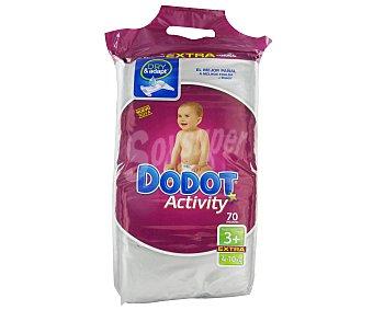 Dodot Pañales Activity para Niños Talla 3, 4-10 Kg  Paquete 70 unidades
