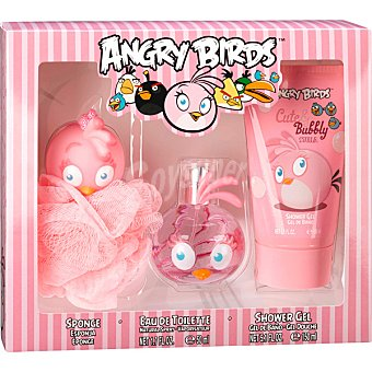 ANGRY BIRDS Stella eau de toilette natural infantil + gel de baño tubo 150 ml + esponja spray 50 ml