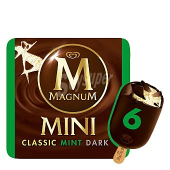Magnum Helado mini bombón de chocolate y menta 6 ud