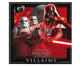 Star Wars Servilletas desechables, estampado Star Wars, 33x33cm., doble capa 20 unidades