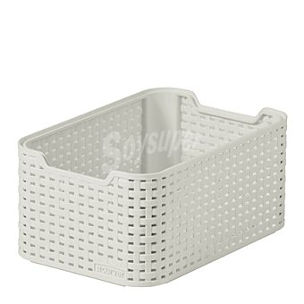 STYLE Cesto blanco relieve efecto Rattan Mod. STYLE 1 ud