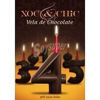 Xoc & Chic Vela de chocolate Nº 4 Pack 1 unid
