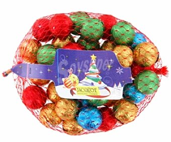 Productos Económicos Alcampo Bolitas Navidad de chocolate con leche 200 gramos