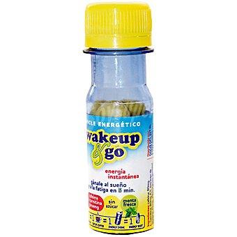WAKE UP & GO chicle energético sin azúcar sabor menta  envase 12 unidades