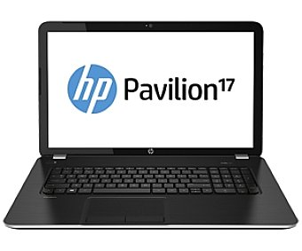 HP Ordenador Portatil con Pantalla de 17,3'', HP 17-e120SS, Procesador: AMD A4-5000 Quad-Core 1.5 ghz, ram: 8GB, Disco Duro: 750GB, Grafica: Radeon Portátil 17,3'' pavilion 17-e120SS
