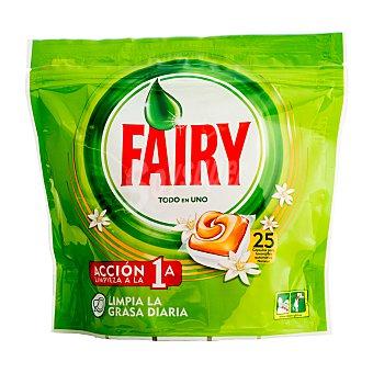 Fairy Lavavajillas maquina capsulas todo en 1 Paquete 25 u