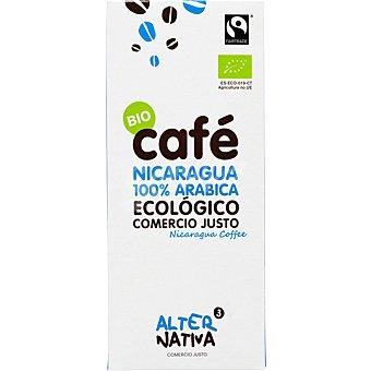ALTERNATIVA 3 Cafe natural molido ecologico de Nicaragua Estuche 250 g