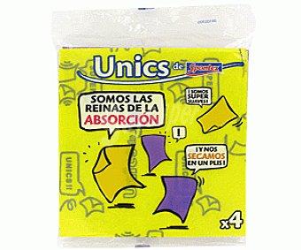 UNICS Bayeta multiusos Pack 4 uds