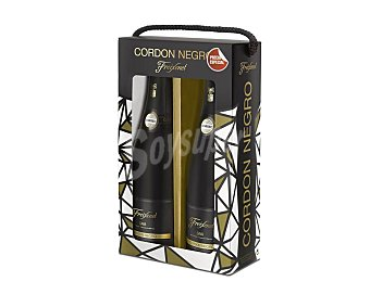 Cordon Negro Estuche de 2 botellas de cava semiseco freixenet 2 x 75 cl 2 x 75 cl