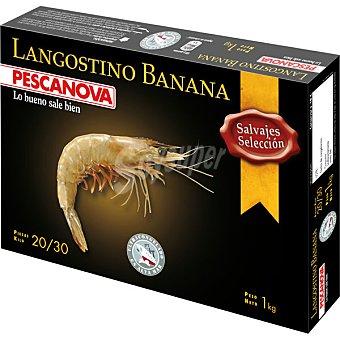 Pescanova Langostino banana salvaje selección 20-30 piezas Estuche 1000 g neto escurrido
