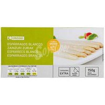 Eroski Espárrago blanco mediado 9/12 piezas Lata 150 g