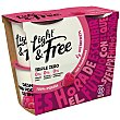Light&free yogur con frambuesa 0% M.G Pack 4 unidades 115 gr Danone
