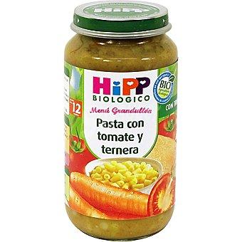 HiPP Biológico Tarrito de pasta con tomate y ternera +12 meses Envase 250 g