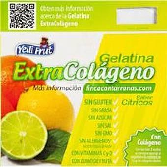 YELLIFRUT Gelatina de cítricos colágeno Pack 4x110 g
