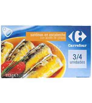 Carrefour Sardina en escabeche 120 g