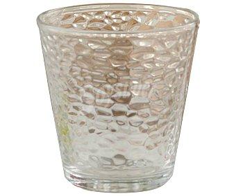 SWEET AHOME Málaga Pack de 10 vasos de vidrio transparente con diseño gotitas en relieve, 0,25 litros, Málaga Ahome.
