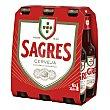 Cerveza Pack de 6 botellas de 33 cl Sagres