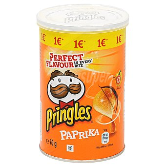 Pringles Patatas fritas paprika Tubo 70 g