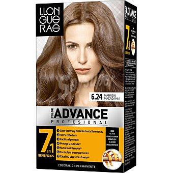 Llongueras Tinte color Advance marrón Macadamia nº 6.24 caja 1 unidad Caja 1 unidad
