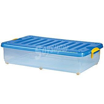 DENOX Bajocama con ruedas transparente y tapa azul