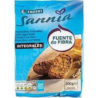 Eroski Sannia Panecillos integrales Paquete 200 g