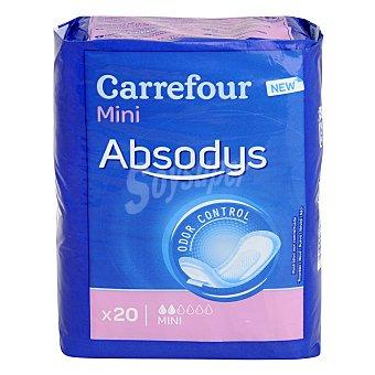 Carrefour Compresa para pequeñas pérdidas de orina ' Absodys Control ' mini 20 ud