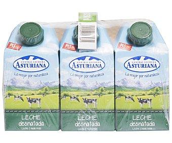 Central Lechera Asturiana Leche desnatada 6 x 500 ml