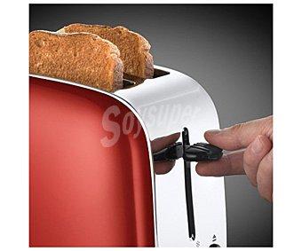 RUSSELL Tostador hobbs Flame red, rojo, 2 ranuras, 6 niveles de tostado, termostato, recogemigas, calientapanecillos rojo, 2 ranuras, 6 niveles de tostado, termostato, recogemigas, calientapanecillos