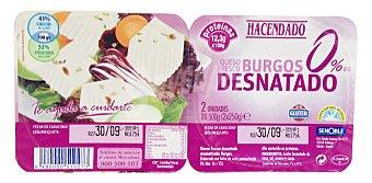 Hacendado Queso fresco burgos desnatado Pack 2 x 250 g - 500 g