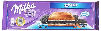 MILKA Chocolate con leche relleno de galleta Oreo Tableta 300 gr