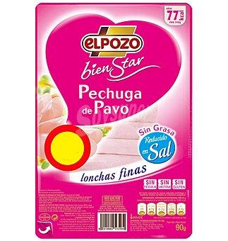 ElPozo PECHUGA PAVO BIENSTAR R/SAL-GRAS 90 GRS
